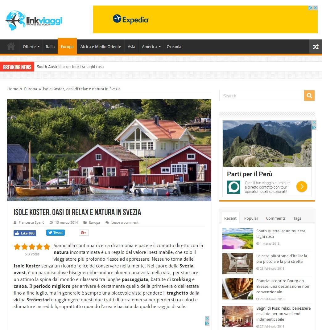 Link Viaggi – Svezia