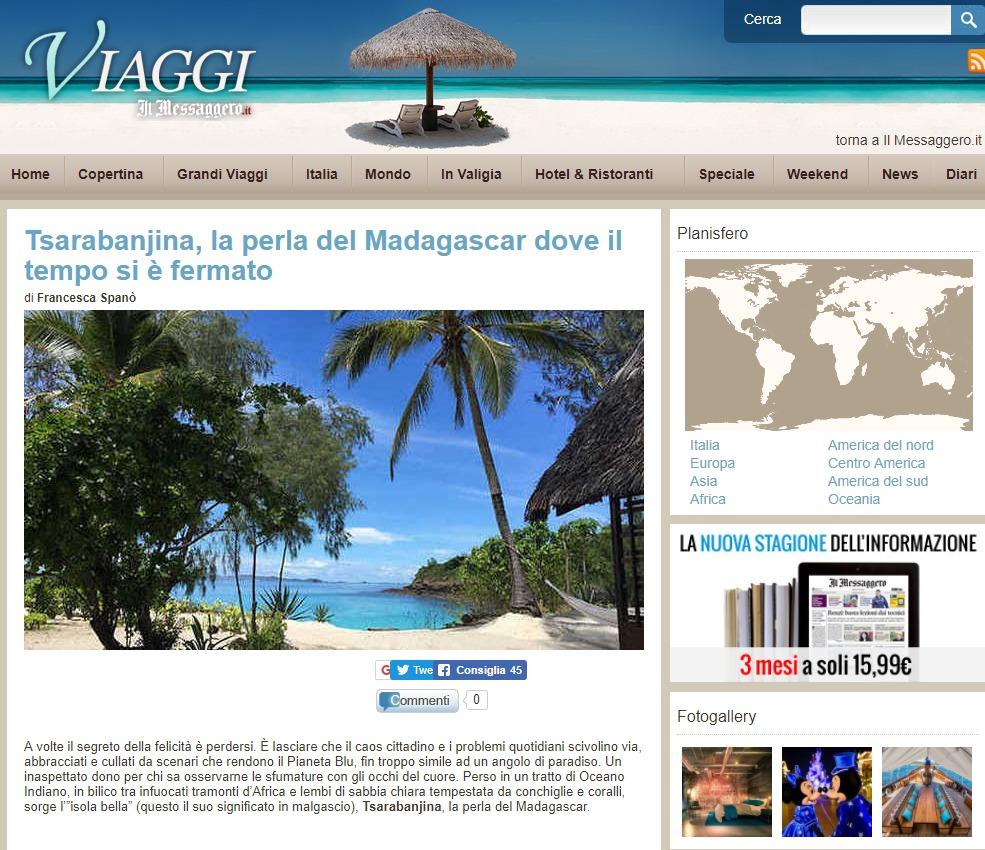 Il Messaggero – Madagascar