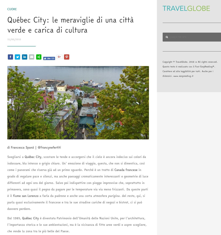 Travelglobe – Québec